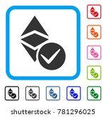 valid ethereum classic icon.... | Shutterstock .eps vector #781296025