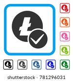 valid litecoin icon. flat gray...