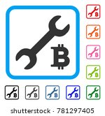 bitcoin repair cost icon. flat...