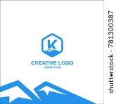 letter k  k logo  k letter...   Shutterstock .eps vector #781300387