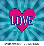 a bright heart in the style of... | Shutterstock .eps vector #781301839