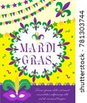 mardi gras carnival poster ...   Shutterstock .eps vector #781303744