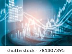 stock market or forex trading... | Shutterstock . vector #781307395