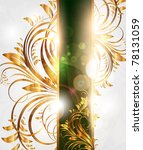 summer vector golden floral... | Shutterstock .eps vector #78131059