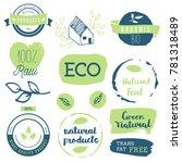 fresh  organic  gluten free ... | Shutterstock .eps vector #781318489