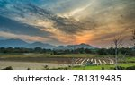 the sun setting is setting in... | Shutterstock . vector #781319485