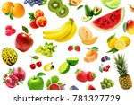 the fruits collage | Shutterstock . vector #781327729