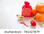 chinese new year ang pow red... | Shutterstock . vector #781327879