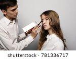 beauty concept  make up artist... | Shutterstock . vector #781336717