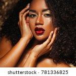 young elegant african american... | Shutterstock . vector #781336825