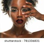 portrait of young african model ... | Shutterstock . vector #781336831