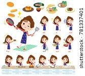 90's fashion women_cooking | Shutterstock .eps vector #781337401