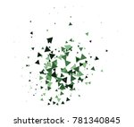 cool explosion  broken glass ... | Shutterstock .eps vector #781340845