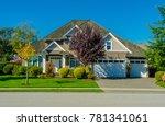 big custom made luxury house... | Shutterstock . vector #781341061