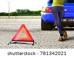 car breakdown with emergency... | Shutterstock . vector #781342021