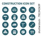 construction icon set vector | Shutterstock .eps vector #781342639