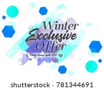 nice and beautiful sale... | Shutterstock .eps vector #781344691