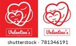 heart hug for love isolated... | Shutterstock .eps vector #781346191