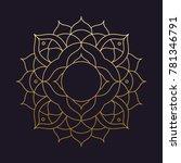 mandala flower beautiful vector ... | Shutterstock .eps vector #781346791
