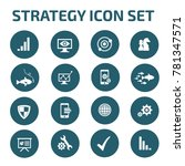 strategy icon set vector | Shutterstock .eps vector #781347571