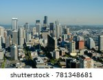aerial view of the seattle ... | Shutterstock . vector #781348681