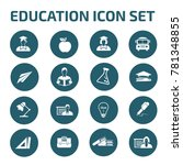 education icon set vector | Shutterstock .eps vector #781348855