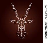 antelope in geometric style.... | Shutterstock .eps vector #781348891