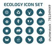 ecology icon set vector | Shutterstock .eps vector #781349449