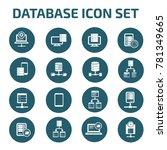 database icon set vector | Shutterstock .eps vector #781349665
