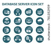 database server icon set vector | Shutterstock .eps vector #781352959
