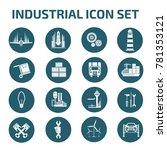 industrial icon set vector | Shutterstock .eps vector #781353121
