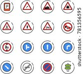 line vector icon set   parking... | Shutterstock .eps vector #781356595