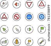line vector icon set  ... | Shutterstock .eps vector #781358899