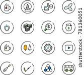 line vector icon set   tea... | Shutterstock .eps vector #781360051