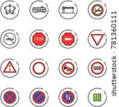 line vector icon set   airport... | Shutterstock .eps vector #781360111