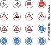 line vector icon set  ... | Shutterstock .eps vector #781360321