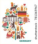 icons of germany in the form of ...   Shutterstock .eps vector #781365967