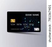 modern credit card template...   Shutterstock .eps vector #781367401