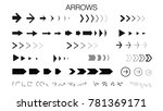 arrows set. flat arrows. arrow...   Shutterstock .eps vector #781369171