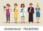 set of different female... | Shutterstock .eps vector #781369681