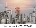 industrial zone the equipment... | Shutterstock . vector #781375441