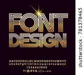 vector golden luxury font... | Shutterstock .eps vector #781378465
