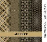set of art deco seamless...   Shutterstock .eps vector #781387654