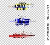 computer screen error templates....   Shutterstock .eps vector #781396795