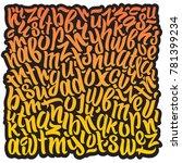 graffiti  art print. letters in ... | Shutterstock .eps vector #781399234