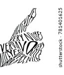 call to action  hand meaning ok.... | Shutterstock .eps vector #781401625