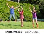 happy teenage female friends...   Shutterstock . vector #78140251