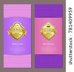golden label best choice 100 ... | Shutterstock .eps vector #781409959