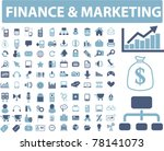 finance   marketing icons ... | Shutterstock .eps vector #78141073