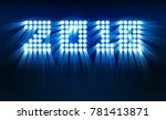 happy new year 2018 bright... | Shutterstock .eps vector #781413871